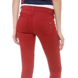 NWT $225 RAG & BONE  24  RED SATEEN LEGGING JEAN
